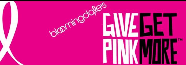 Bloomingdales Give Pink Banner