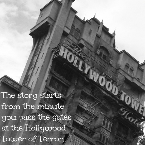 hollywood tower of terror ride at Disney's California Adventure