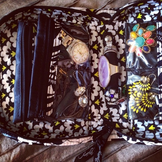 vera bradley travel jewelry organizer