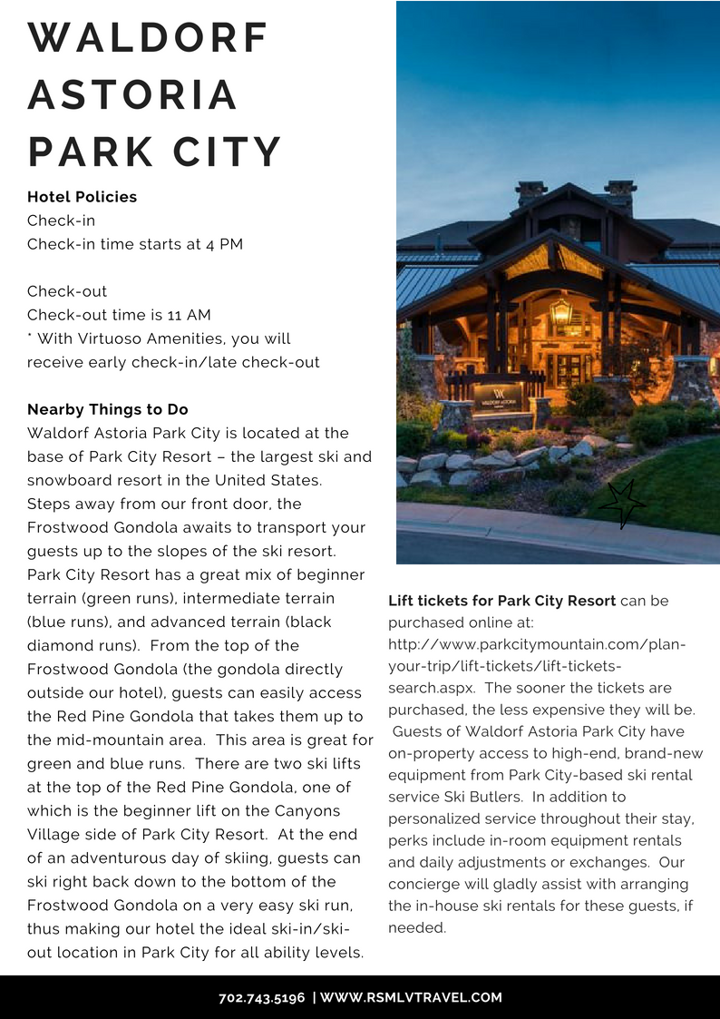 Winter Escape Waldorf Astoria Park City | Stefanie Van Aken RSMLVTravel