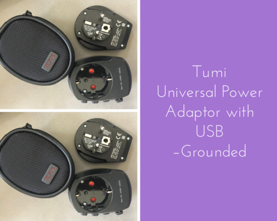 Tumi Universal Power Adapter with usb grounded