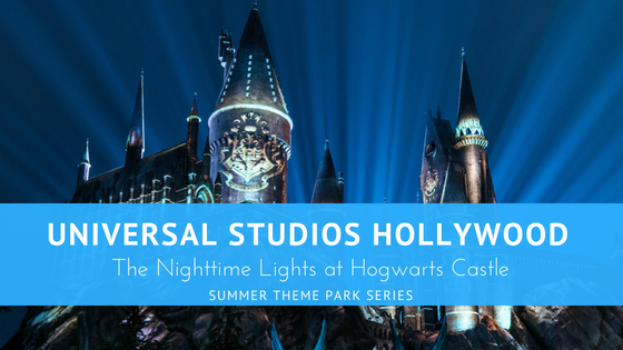 Universal Studios Hollywood The nighttime Lights at Hogwarts Castle